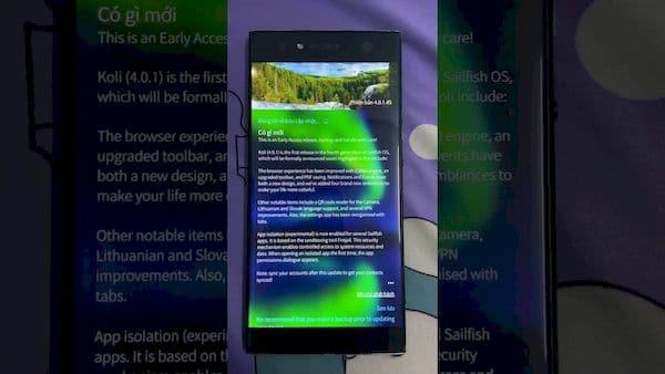 Sailfish OS 4.0.1 não é mais compatível com o telefone Jolla, mas tem muitas outras melhorias