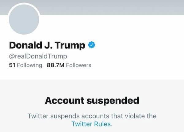 Twitter confirmou que banimento de Donald Trump será definitivo