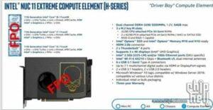 ChipHell vazou dados do Intel NUC11 Extreme Compute Element