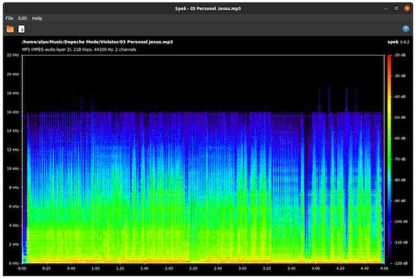 Como instalar o analisador de espectro acústico Spek no Linux via Snap