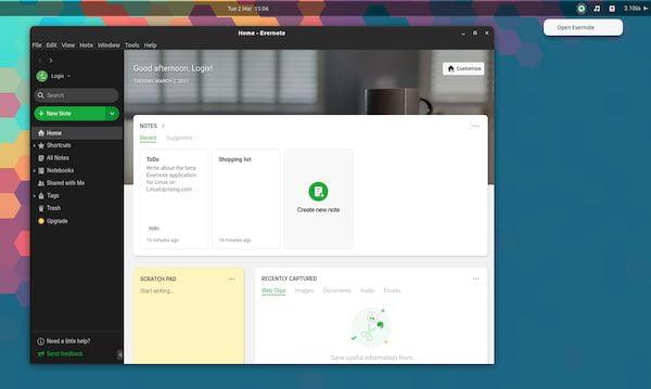 Como instalar o cliente oficial do Evernote no Ubuntu, Debian e derivados