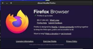 Firefox 86.0.1 lançado para corrigir falha na inicialização e outros bugs