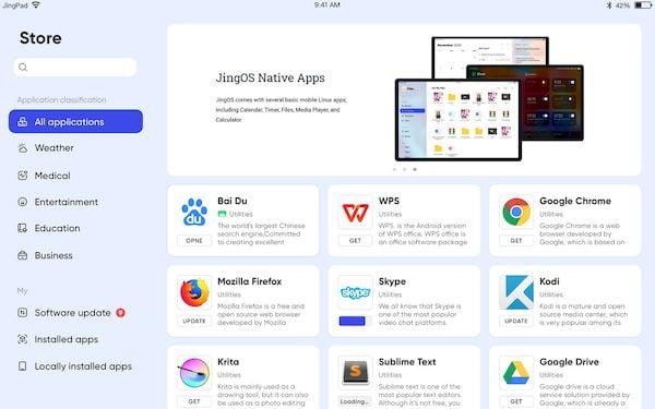 JingOS 0.8 lançado com atualizações OTA, nova App Store e mais