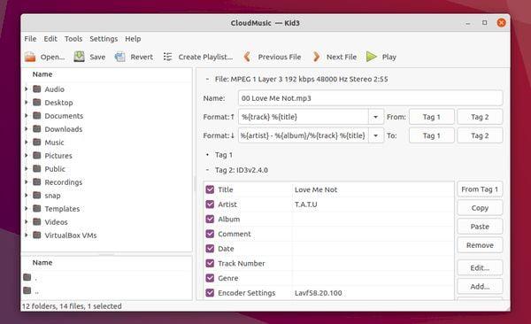Kid3 3.8.6 lançado com suporte a Qt 6 e novos recursos