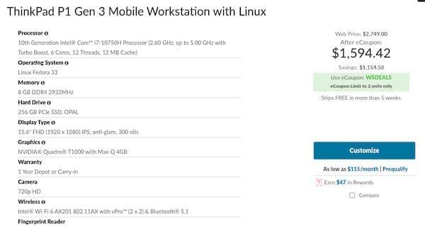 Laptop Lenovo ThinkPad P1 Gen 3 já está disponível com Fedora Linux
