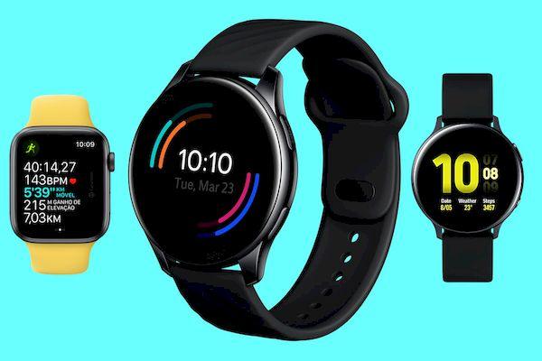 OnePlus Watch vs Apple Watch SE vs Samsung Galaxy Watch Active 2 - comparativo de especificações