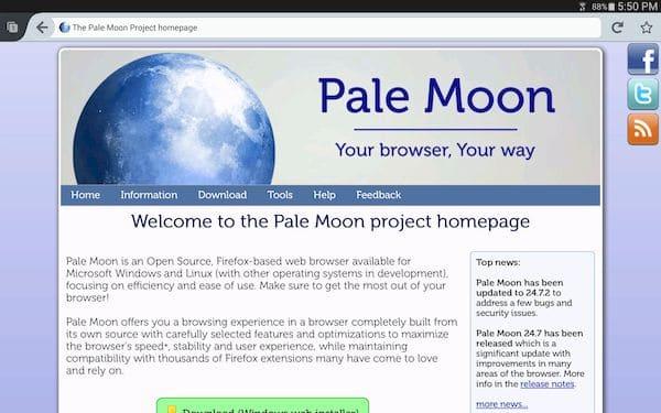 Pale Moon 29.1 lançado com melhorias de desempenho, segurança e muito mais
