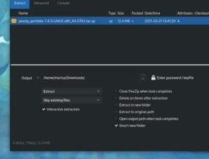 PeaZip 7.8 lançado com extração interativa, nova compilação portátil Qt5 no Linux