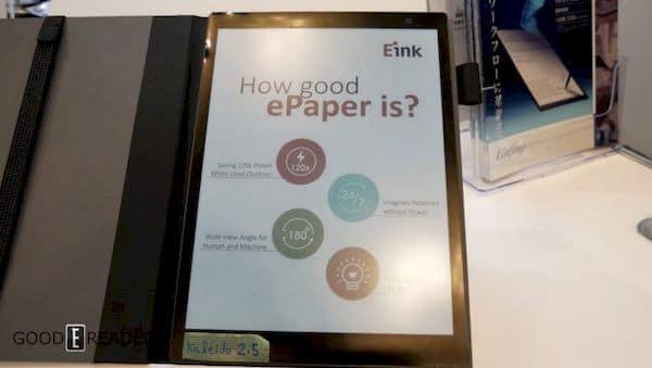 Sony adicionou tela colorida E Ink ao novo tablet de papel digital DPT-CP1