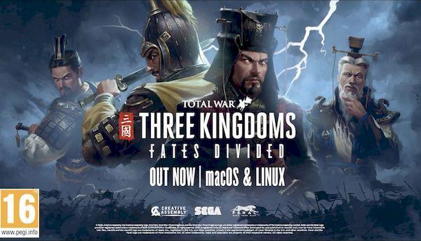 Total War: THREE KINGDOMS - Fates Divided DLC já está disponível para Linux