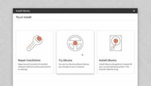 Ubuntu compartilhou designs do seu novo instalador de desktop