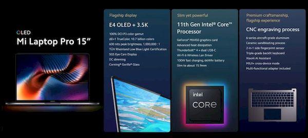 Xiaomi lançará Mi Laptop Pro com Intel Tiger Lake-H35, gráficos NVIDIA e mais