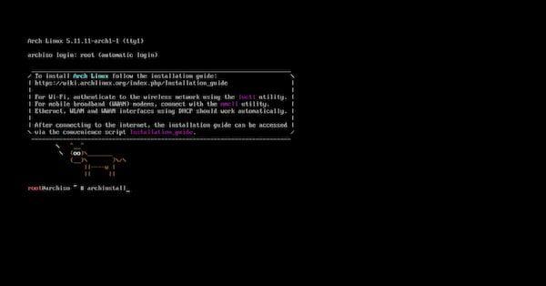 Arch Linux agora está mais fácil de instalar a partir da ISO mais recente