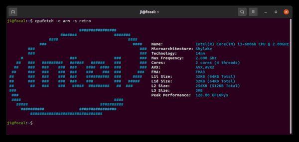 Como instalar o ap de informações da CPU CPUFetch no Linux