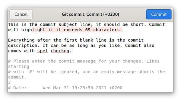 Como instalar o editor de mensagens Git Commit no Linux via Flatpak