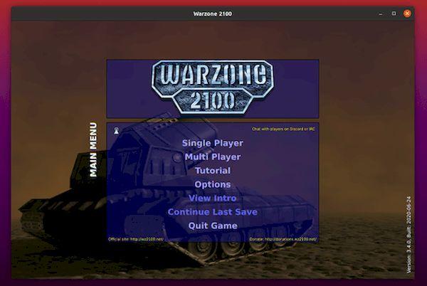 Como instalar o jogo de estratégia Warzone 2100 no Ubuntu e derivados