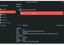 Como instalar o visualizador de recursos CoreStats no Linux via Flatpak