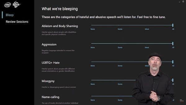Intel apresentou um novo produto para censurar linguagem ofensiva