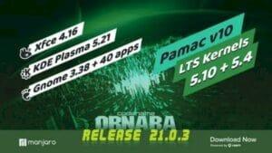 Manjaro 21.0.3 lançado com suporte ao kernel 5.12 e KDE Gear 21.04