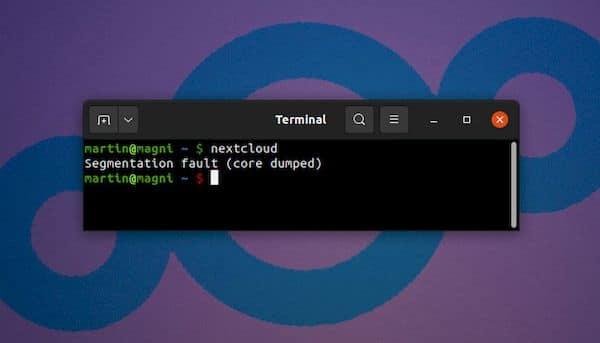 NextCloud está corrompido no Ubuntu 21.04 e a correção está chegando