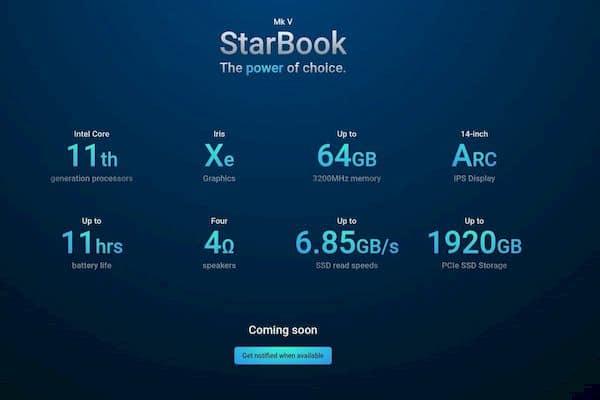 Star Labs lançou um novo laptop Linux com CPUs Intel de 11ª geração