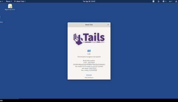 Tails 4.18 lançado com o navegador Tor 10.0.16 e firmware Intel atualizado
