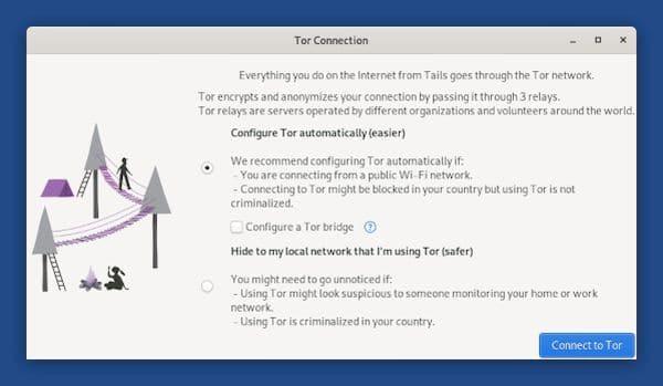 Tails precisa de ajuda para testar o novo assistente de conexão do Tor