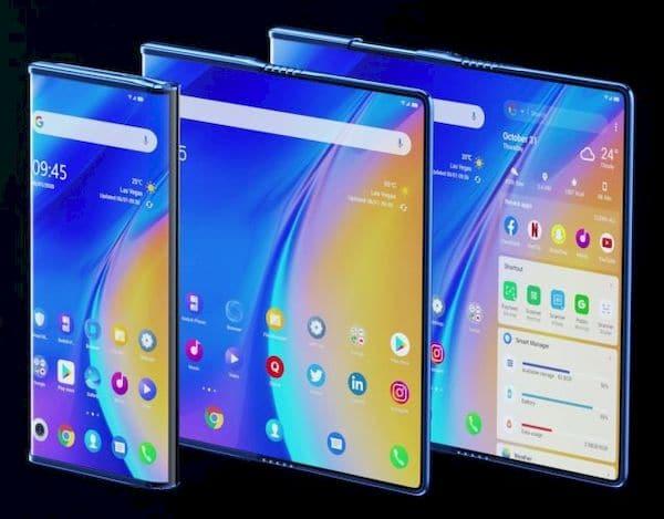 Telefone conceito da TCL desdobra e desenrola para se tornar um tablet
