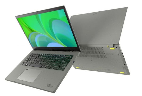 Acer Aspire Vero, um laptop feito com plástico reciclado pós-consumo