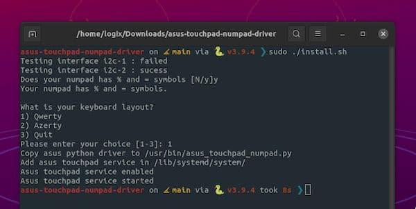 Como ativar o teclado numérico do touchpad de laptops ASUS no Linux