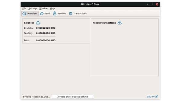 Como instalar o cliente BitcoinHD Core no Linux via Flatpak