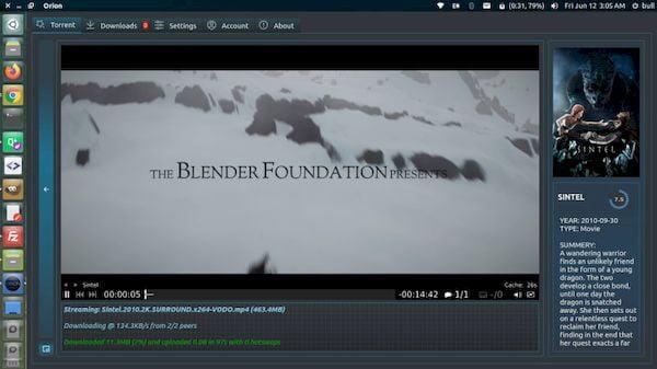 Como instalar o cliente BitTorrent e Streamer Orion no Linux via Snap