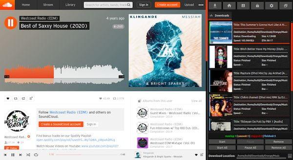 Como instalar o Cliente SoundCloud Orange no Linux via Snap