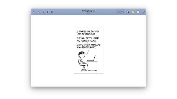 Cara menginstal penampil komik xkcd Comic Sticks di Linux melalui Flatpak
