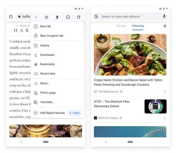 Google anunciou um novo recurso de seguir RSS no Chrome para Android