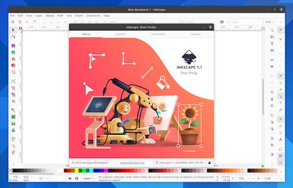 Inkscape 1.1 lançado com sistema de encaixe reescrito e mais