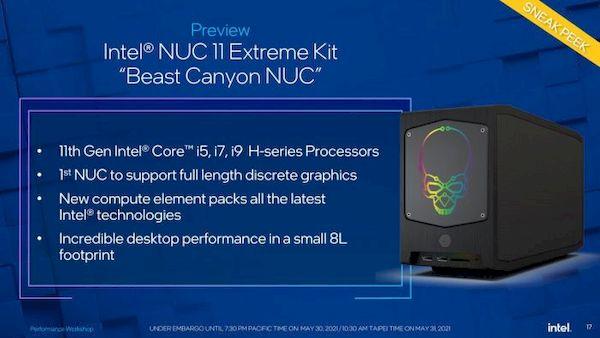 Intel apresentou o computador Beast Canyon NUC 11 Extreme e chips mobile Alder Lake