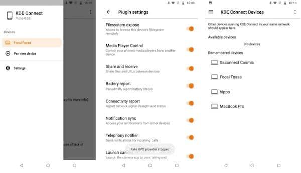 KDE Connect para Android passou por uma mini reforma