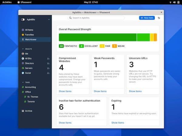 Lançada a primeira versão estável do 1Password for Linux