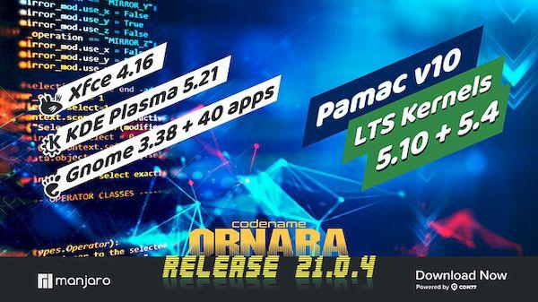 Manjaro 21.0.4 lançado com pacotes atualizados e LXQt 0.17.0