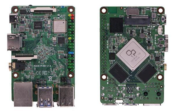 Rock Pi 4 Plus, um PC de placa única com armazenamento integrado