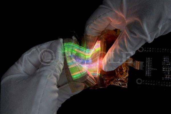 Royole desenvolveu uma tela micro LED extensível