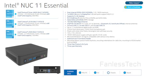 Vazou o Intel Atlas Canyon NUC, um PC minúsculo com chips Intel Jasper Lake (Celeron e Pentium)