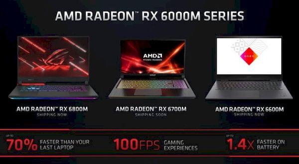 AMD lançou as placas de vídeo Radeon RX 6000M para notebooks para jogos