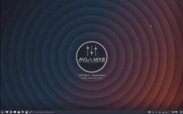 AV Linux MX Edition 2021.05.22 com os plug-ins de som Drops e MZuther