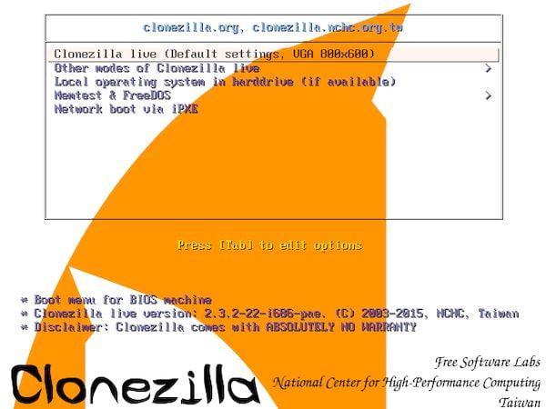 Clonezilla Live 2.7.2 lançado com muitos novos recursos e melhorias