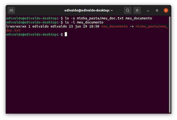 Como criar um link simbólico para um diretório no Linux