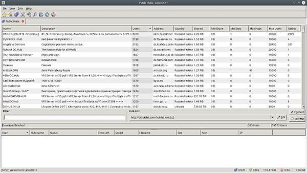 Como instalar o cliente Direct Connect LinuxDC++ no Linux via Flatpak