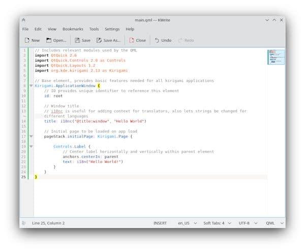 Como instalar o editor de texto KWrite no Linux via Flatpak