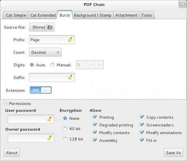 Como instalar o utilitário PDF Chain no Linux via Flatpak
